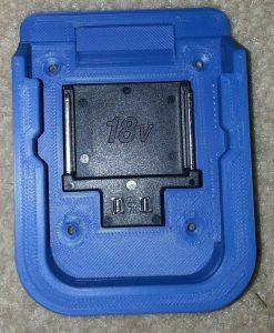 Makita 18V Lithium battery mount / holder.